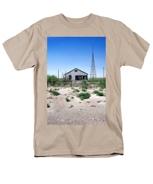 Men's T-Shirt  (Regular Fit) featuring the photograph Somewhere On The Old Pecos Highway Number 5 by Lon Casler Bixby