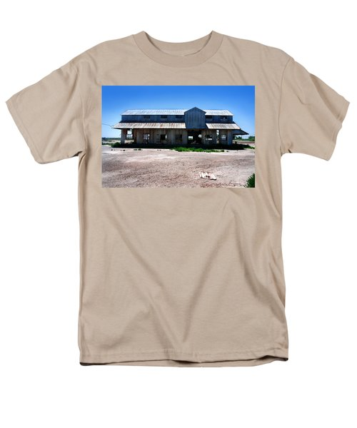 Men's T-Shirt  (Regular Fit) featuring the photograph Somewhere On The Old Pecos Highway Number 6 by Lon Casler Bixby