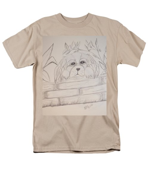 Spaniel Pup Men's T-Shirt  (Regular Fit) by Maria Urso