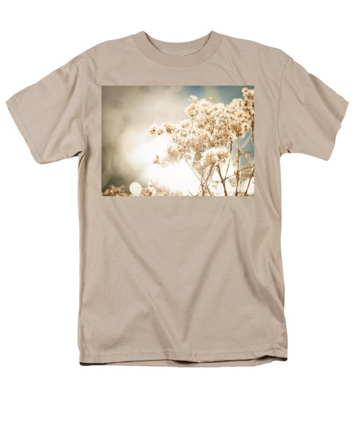 Men's T-Shirt  (Regular Fit) featuring the photograph Sparkly Weeds by Cheryl Baxter