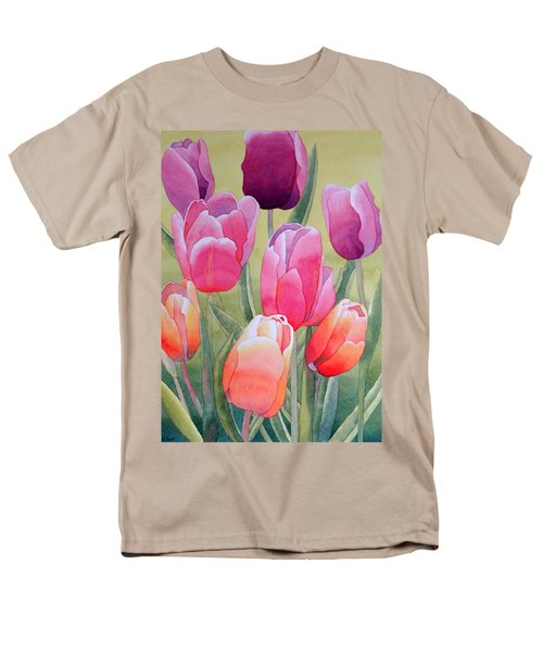 Men's T-Shirt  (Regular Fit) featuring the painting Spring by Laurel Best
