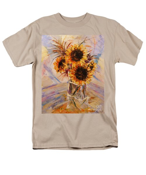 Sunflowers Men's T-Shirt  (Regular Fit) by Karen  Ferrand Carroll