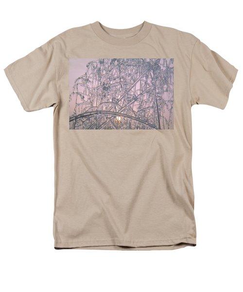 Sunrise Through Ice Covered Shrub Men's T-Shirt  (Regular Fit) by Tom Wurl