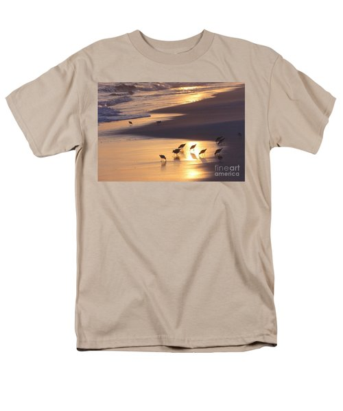 Men's T-Shirt  (Regular Fit) featuring the photograph Sunset Beach by Nava Thompson