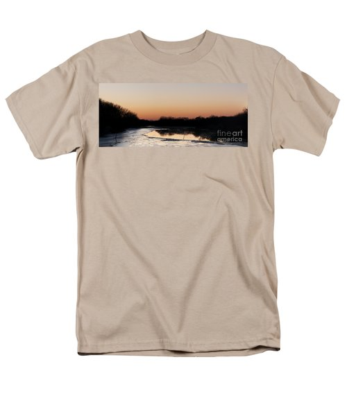 Men's T-Shirt  (Regular Fit) featuring the photograph Sunset Over The Republican River by Art Whitton
