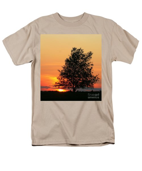 Sunset Square Men's T-Shirt  (Regular Fit) by Angela Rath