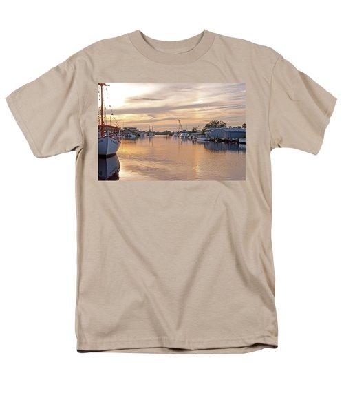 Tarpon Springs Sunset Men's T-Shirt  (Regular Fit) by John Black