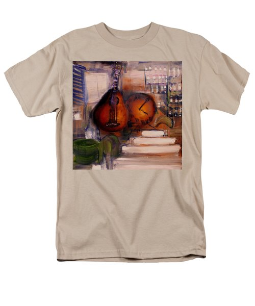Men's T-Shirt  (Regular Fit) featuring the painting The Mandolin by Evelina Popilian
