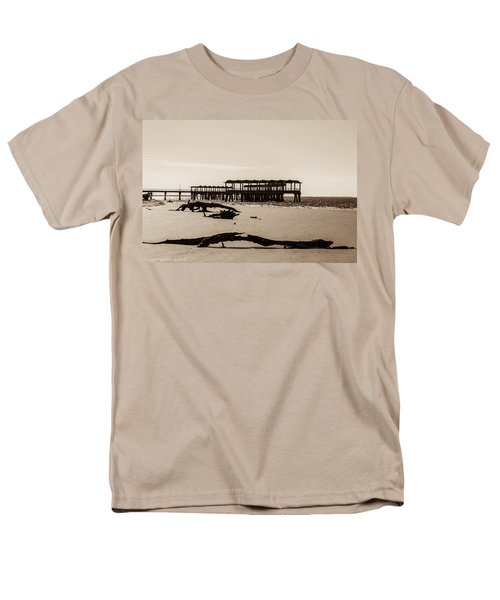 Men's T-Shirt  (Regular Fit) featuring the photograph The Pier by Shannon Harrington