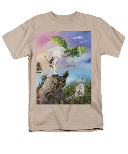 Men's T-Shirt  (Regular Fit) featuring the painting The Summoning by Lori Brackett
