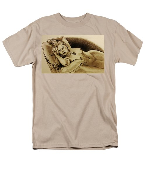 Men's T-Shirt  (Regular Fit) featuring the drawing Titanic Rose by Michael Cross