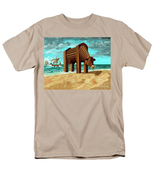 Trojan Cow Men's T-Shirt  (Regular Fit) by Russell Kightley