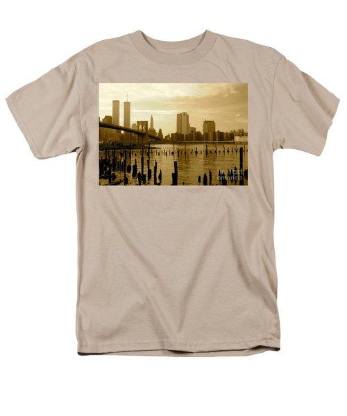 View From Brooklyn Bridge Park Men's T-Shirt  (Regular Fit) by Mark Gilman