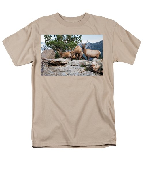 Wapiti Men's T-Shirt  (Regular Fit) by Ronald Lutz