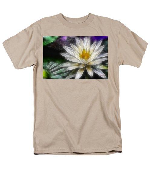 Men's T-Shirt  (Regular Fit) featuring the digital art Waterlily In Pseudo-fractal by Lynne Jenkins