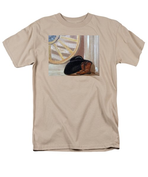 Men's T-Shirt  (Regular Fit) featuring the painting Western Art Work For Luke by Margaret Harmon