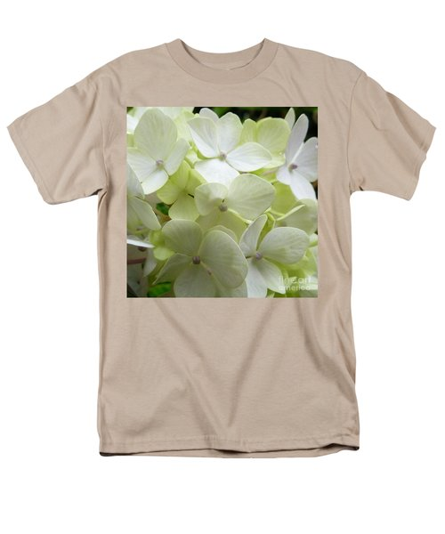 Men's T-Shirt  (Regular Fit) featuring the photograph White Hydrangea by Barbara Moignard