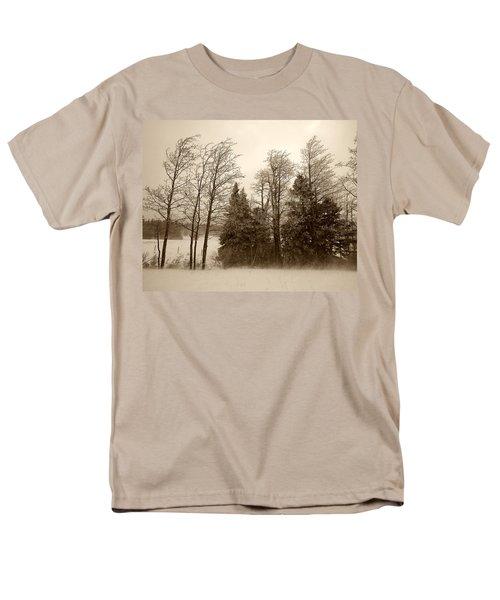 Men's T-Shirt  (Regular Fit) featuring the photograph Winter Treeline by Hugh Smith