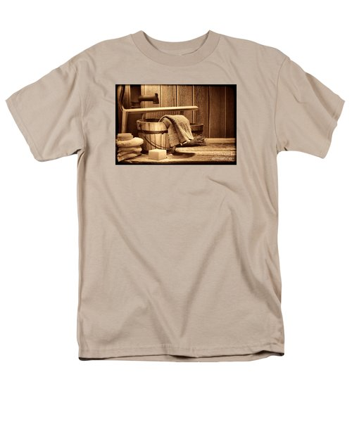 Laundry At The Ranch Men's T-Shirt  (Regular Fit) by American West Legend By Olivier Le Queinec