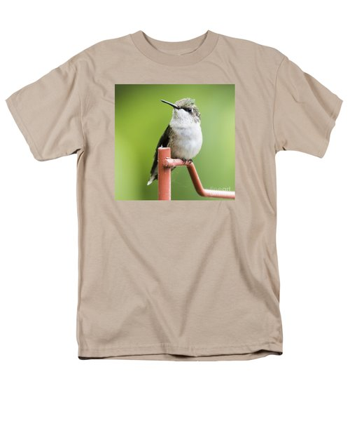 Men's T-Shirt  (Regular Fit) featuring the photograph  Ruby-throated Hummingbird  by Ricky L Jones