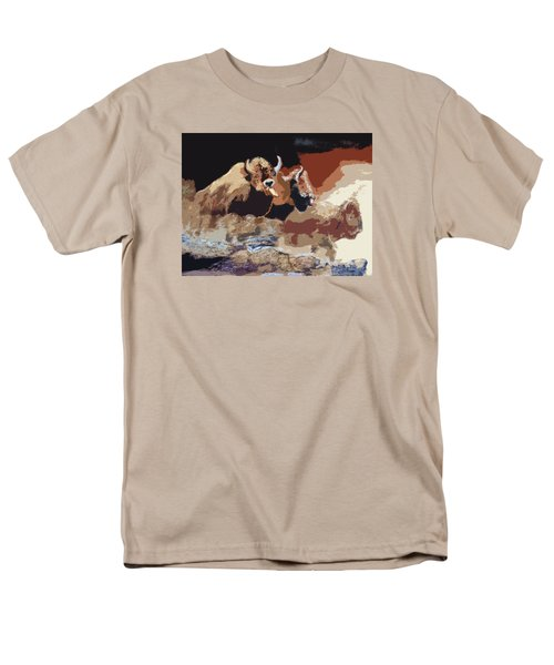 010316 Ancient Buffalo Hunt Men's T-Shirt  (Regular Fit) by Garland Oldham