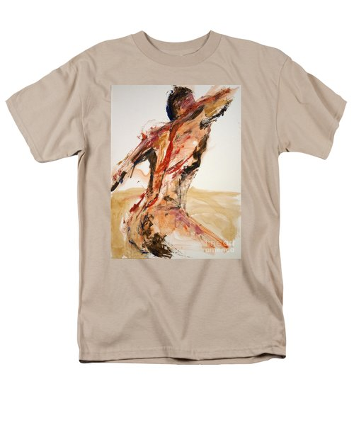 04861 Letting Go Men's T-Shirt  (Regular Fit) by AnneKarin Glass