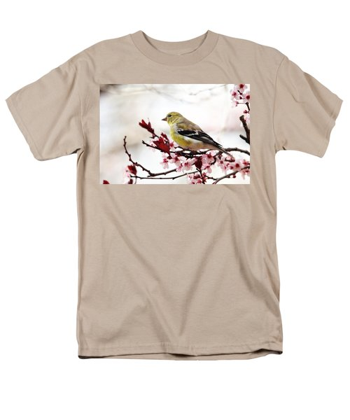 American Goldfinch In Spring Men's T-Shirt  (Regular Fit) by Trina Ansel