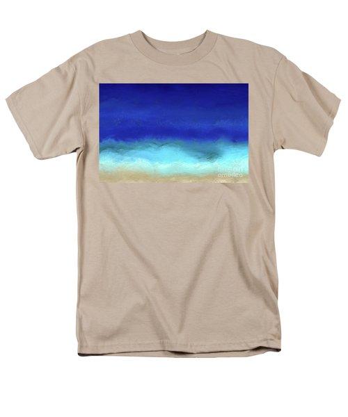 Beach Scene 8. Aqua Beach Blues Men's T-Shirt  (Regular Fit) by Mark Lawrence