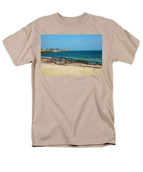Men's T-Shirt  (Regular Fit) featuring the photograph Birds On The Beach by Madeline Ellis