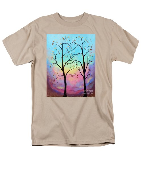Men's T-Shirt  (Regular Fit) featuring the painting Branching Out by Stacey Zimmerman