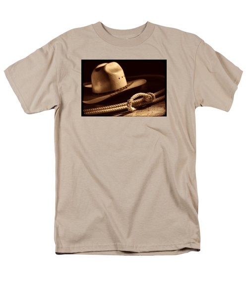 Cowboy Hat And Lasso Men's T-Shirt  (Regular Fit) by American West Legend By Olivier Le Queinec