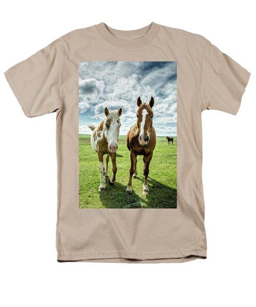 Curious Friends Men's T-Shirt  (Regular Fit)