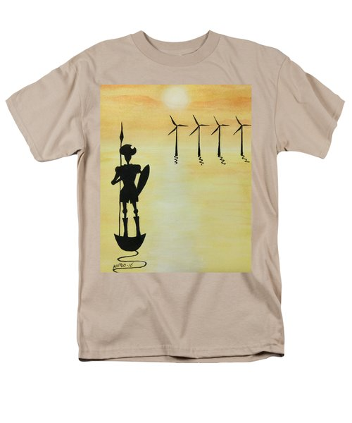 Men's T-Shirt  (Regular Fit) featuring the painting Don Quixote by Edwin Alverio