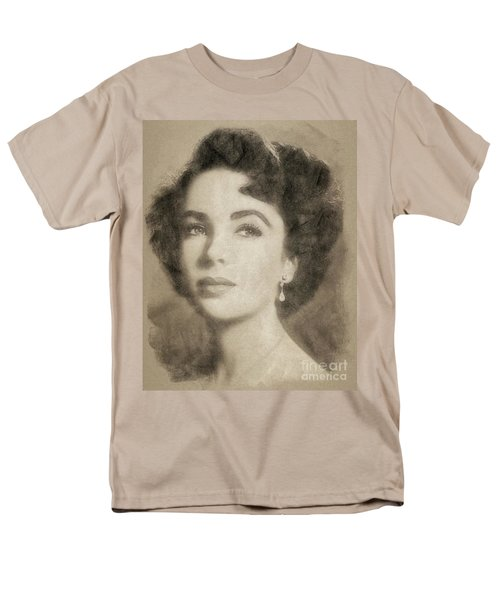Elizabeth Taylor Hollywood Actress Men's T-Shirt  (Regular Fit) by John Springfield