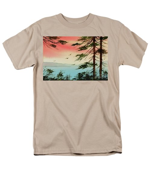 Men's T-Shirt  (Regular Fit) featuring the painting Evening Light by James Williamson