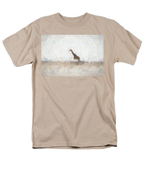 Men's T-Shirt  (Regular Fit) featuring the digital art Giraffe Abstract by Ernie Echols