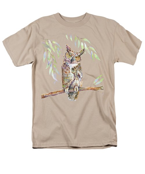 Great Horned Owl  Men's T-Shirt  (Regular Fit) by Amy Kirkpatrick