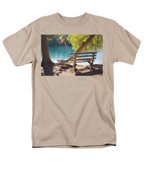 Green Lakes Men's T-Shirt  (Regular Fit) by David Stasiak