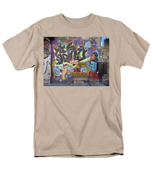 Men's T-Shirt  (Regular Fit) featuring the photograph Inwood Graffiti  by Cole Thompson