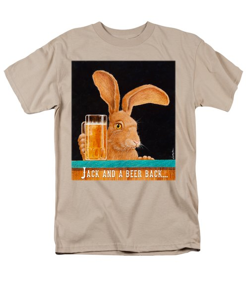 Jack And A Beer Back... Men's T-Shirt  (Regular Fit) by Will Bullas