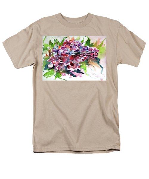 Lilac Men's T-Shirt  (Regular Fit) by Kovacs Anna Brigitta