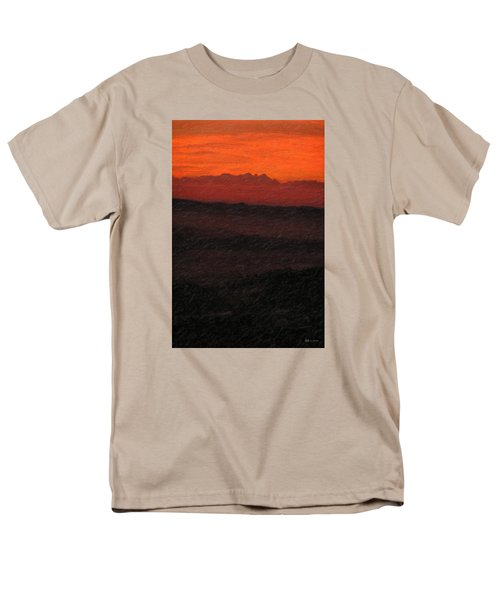 Not Quite Rothko - Blood Red Skies Men's T-Shirt  (Regular Fit) by Serge Averbukh