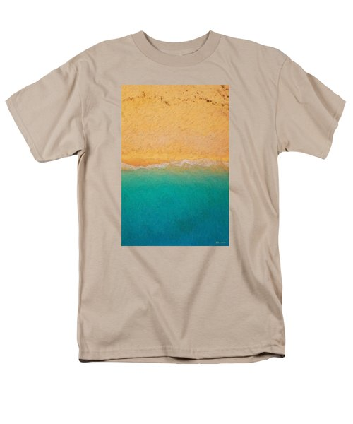 Not Quite Rothko - Surf And Sand Men's T-Shirt  (Regular Fit) by Serge Averbukh