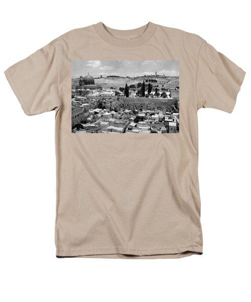 Old Jerusalem Men's T-Shirt  (Regular Fit) by Munir Alawi
