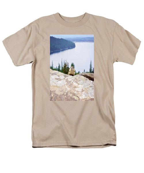 Men's T-Shirt  (Regular Fit) featuring the photograph On Top Of The World by Janie Johnson