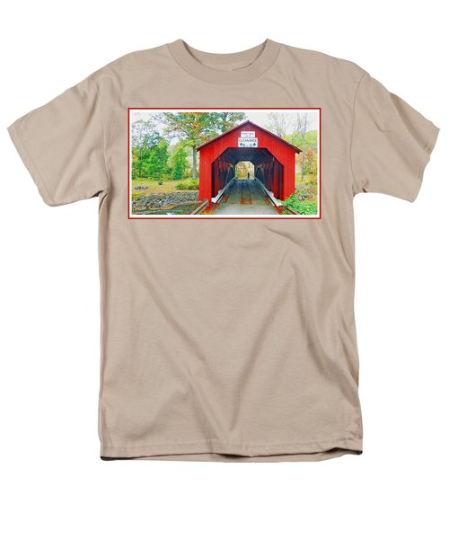 Parr's Mill Covered Bridge, Columbia County, Pennsylvania Men's T-Shirt  (Regular Fit) by A Gurmankin