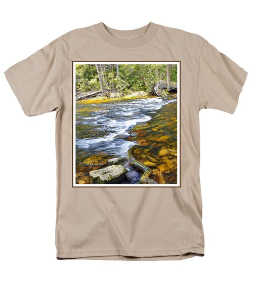 Pennsylvania Mountain Stream Men's T-Shirt  (Regular Fit) by A Gurmankin