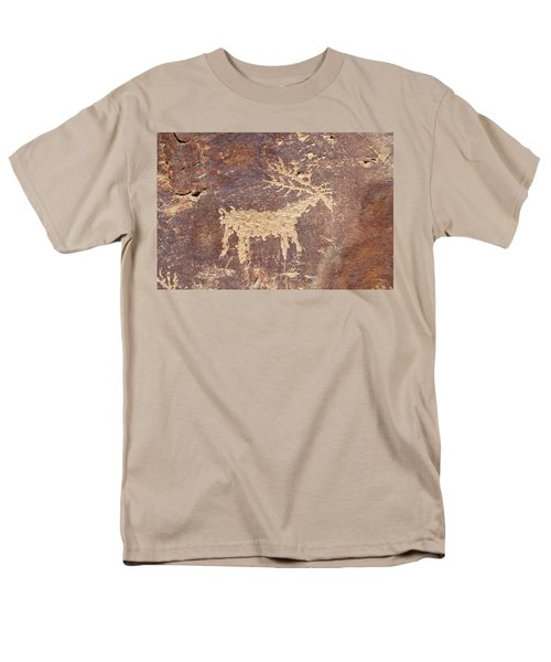 Men's T-Shirt  (Regular Fit) featuring the photograph Petroglyph - Fremont Indian by Breck Bartholomew
