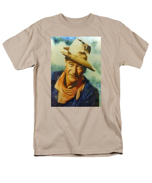 Men's T-Shirt  (Regular Fit) featuring the digital art Portrait Of John Wayne by Charmaine Zoe