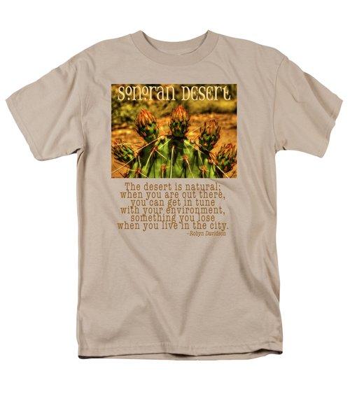Prickly Pear Cactus Men's T-Shirt  (Regular Fit) by Roger Passman
